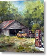 Outta Gas Metal Print by Tina Bohlman