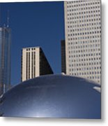 Over The Bean Metal Print