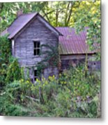 Overgrown Abandoned 1800 Farm House Metal Print