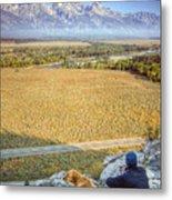 Overlooking The Grand Tetons Jackson Hole Metal Print