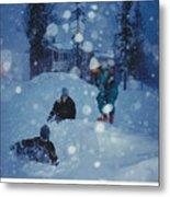 Overnight Snow Metal Print