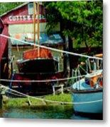 Oxford Boat Works Metal Print