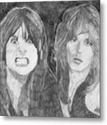 Ozzy Osbourne And Randy Rhoads Metal Print