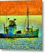 p1030865001d  Fishing  Boat Metal Print