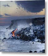 Pacific Lava Flow Metal Print
