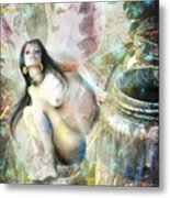 Paint Fairy Metal Print