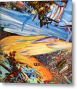 Paint Number 38 Metal Print by James W Johnson