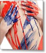 Paint On Woman Body Metal Print