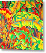painted Crotons Metal Print by Daniel Jean-Baptiste