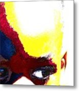 Painted Face 1 Metal Print