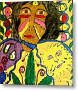 Painted Face Metal Print