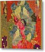 Painted Geisha Metal Print by Roberta Baker
