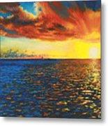 Painted Horizon Metal Print