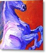 Painted Mustang Metal Print