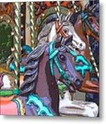 Painted Ponies Metal Print