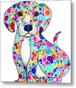 Painted Puppy Metal Print