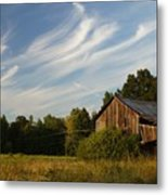 Painted Sky Barn Metal Print
