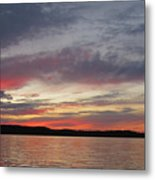 Painted Sunset On Gunflint Lake Metal Print