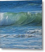 Painterly Waves Metal Print