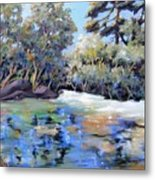 Painting In The Park Metal Print