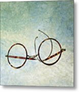 Pair Of Glasses Metal Print by Bernard Jaubert