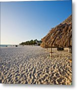 Palapas Of  Aruba Metal Print