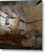 Paleolithic Art Of Bulls On Calcite Metal Print by Keenpress