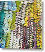 Palette. Colorful Painter Palette. Exhausted Paint And Abstract Painting. Metal Print