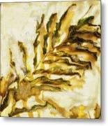 Palm On Wall Metal Print