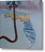 Palm Over Florida Metal Print