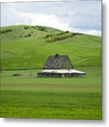 Palouse Old Barn Metal Print