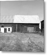 Panorama - Old Barn On 1279-hwy 57 Metal Print