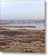 Panorama Of Christchurch Harbour Metal Print