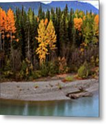 Panoramic Northern River Metal Print