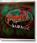 Papa's Garage Metal Print
