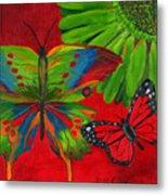 Papillon Rouge Metal Print