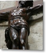 Paris - Jesus On Cross Metal Print