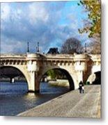 Paris Bridge 0523 Metal Print