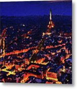 Paris City View Metal Print