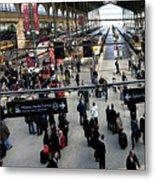 Paris Train Station Metal Print