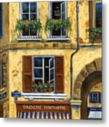 Parisian Bistro And Butcher Shop Metal Print by Marilyn Dunlap