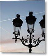 Parisian Lights By Notre Dame Metal Print