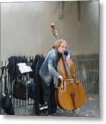 Parisian Street Musician Metal Print
