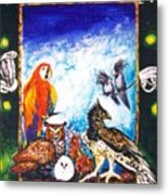 Parrot And Eagle Metal Print