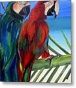 Parrots On The Beach Metal Print