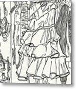 Party Dress In Closet Metal Print