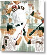 Pat Burrell Study 2 Metal Print by George  Brooks