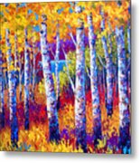 Path To The Lake Metal Print by Marion Rose