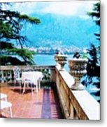 Patio In Italy Metal Print
