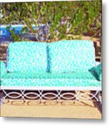 Patio Invitation Palm Springs Metal Print